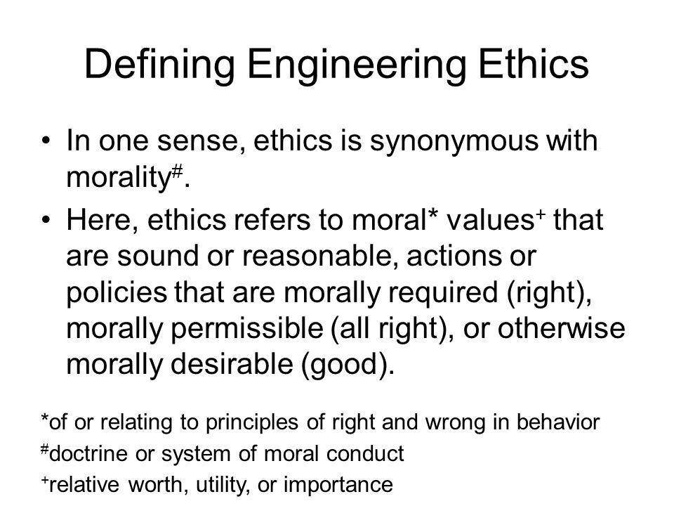 defining ethics What is a 'code of ethics' a code of ethics is a guide of principles designed to help professionals conduct business honestly and with integrity a code of ethics document may outline the mission .