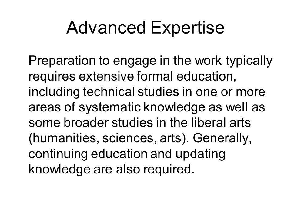 Advanced Expertise