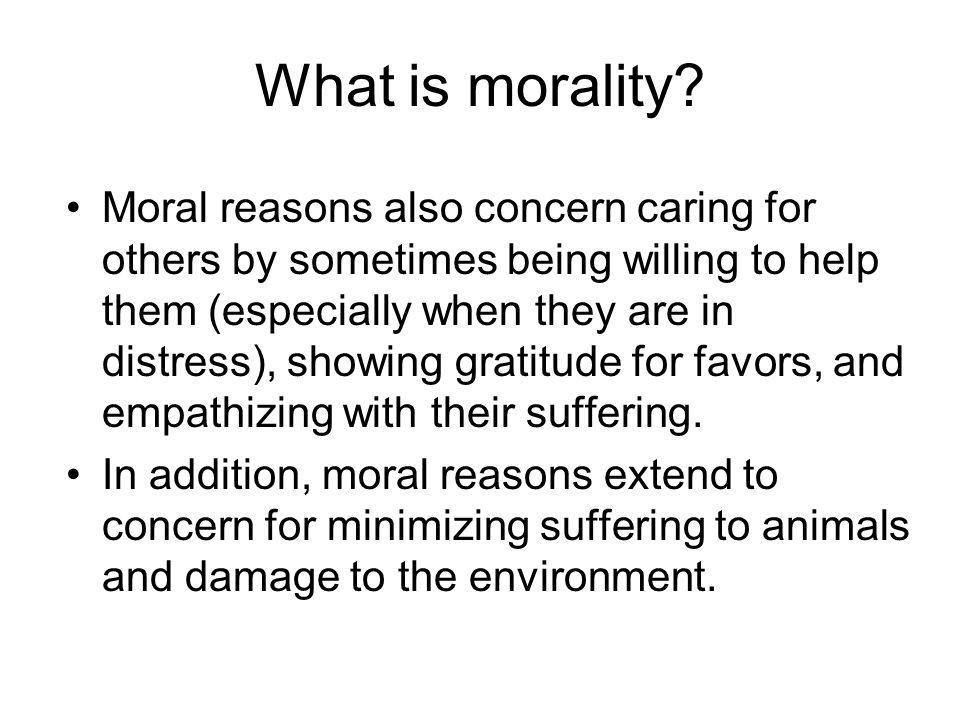 What is morality
