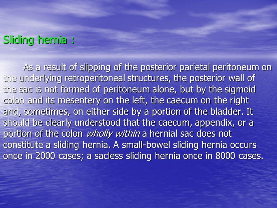 Sliding hernia :