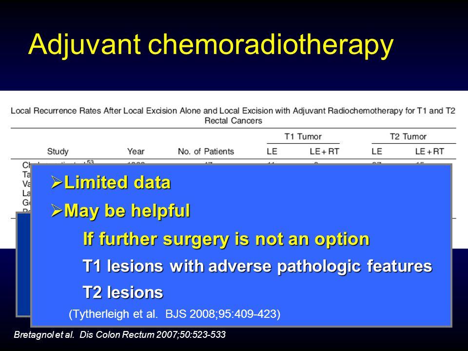 Adjuvant chemoradiotherapy