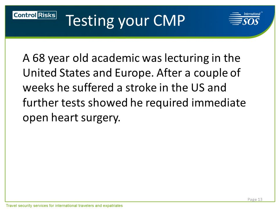 Testing your CMP