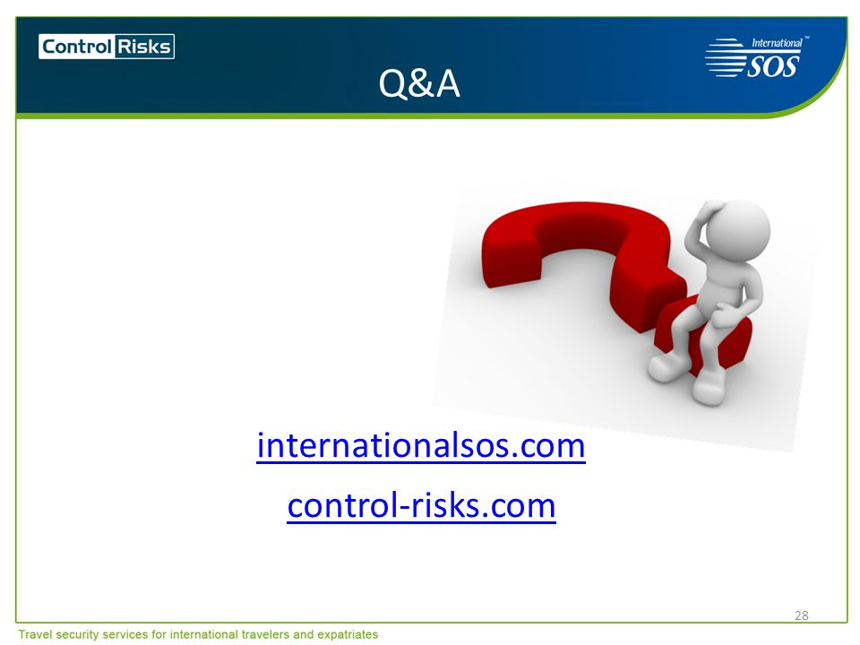 Q&A internationalsos.com control-risks.com
