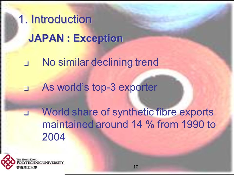 1. Introduction JAPAN : Exception No similar declining trend