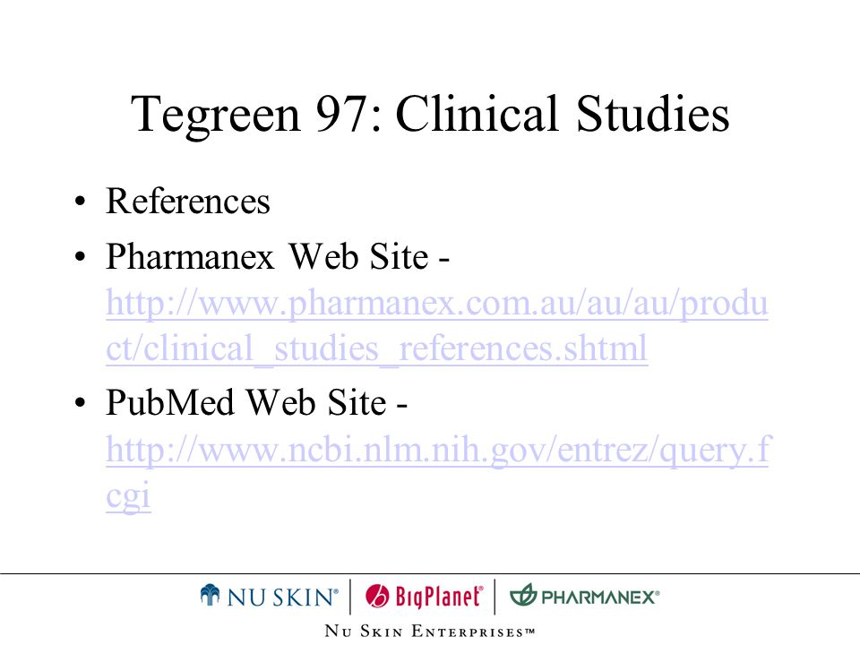 Tegreen 97: Clinical Studies
