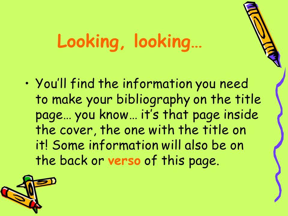 Looking, looking…
