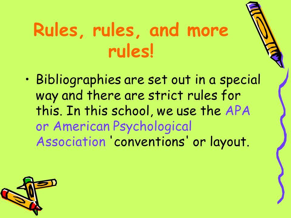 Rules, rules, and more rules!