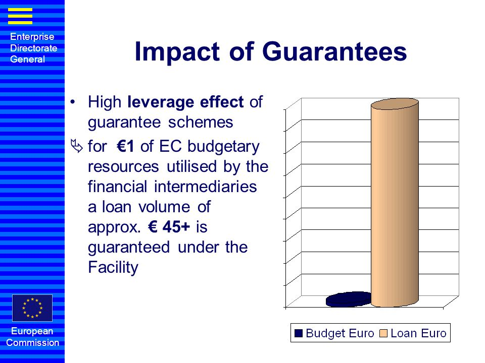Impact of Guarantees High leverage effect of guarantee schemes