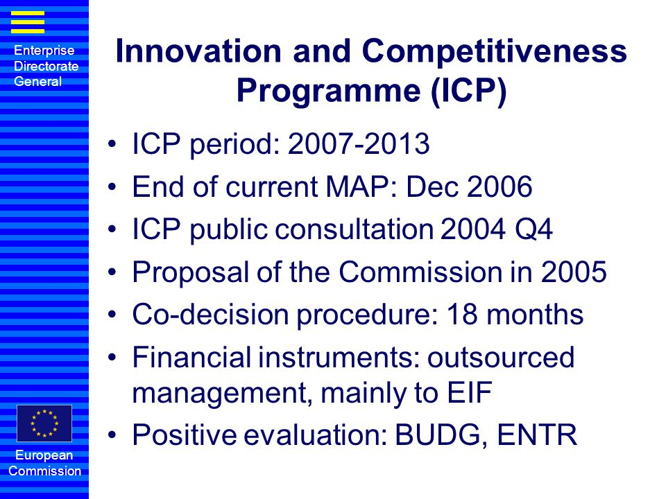 Innovation and Competitiveness Programme (ICP)