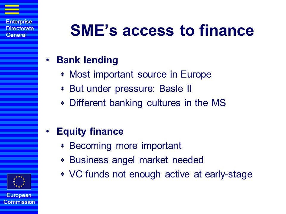 SME's access to finance