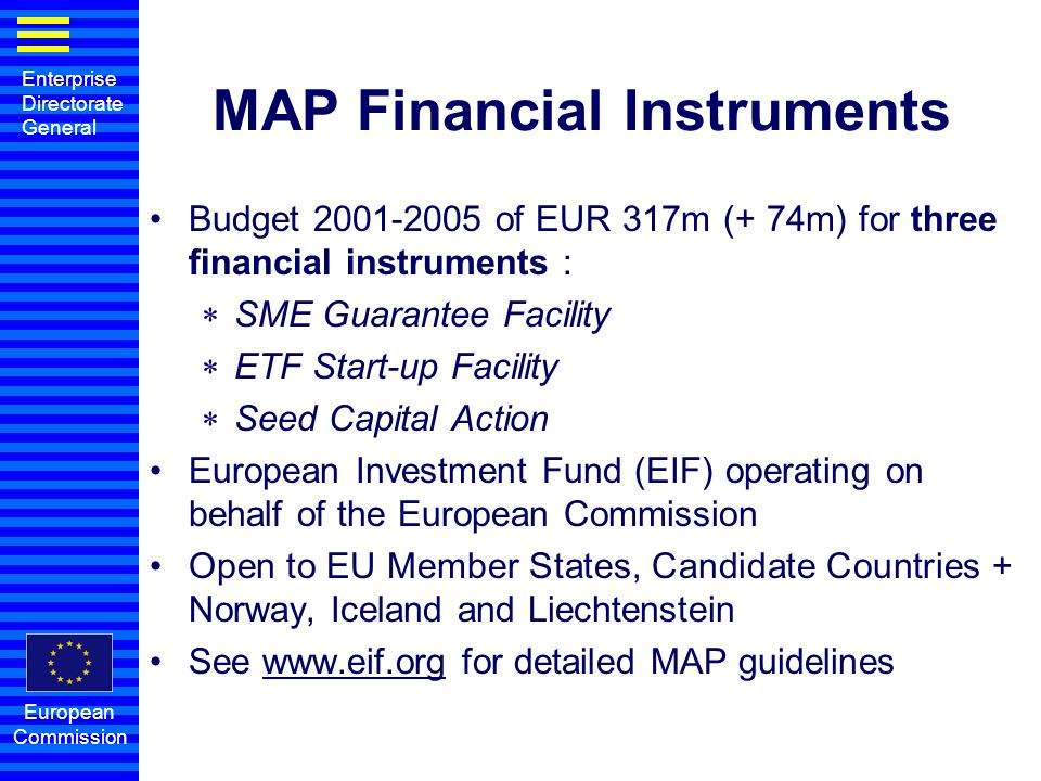 MAP Financial Instruments