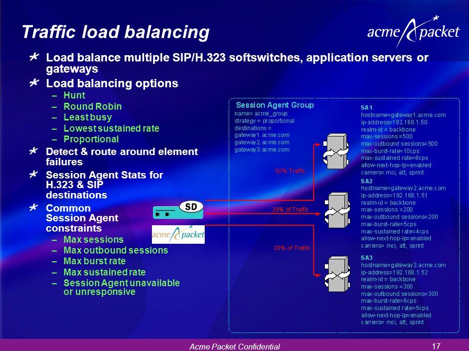 Traffic load balancing