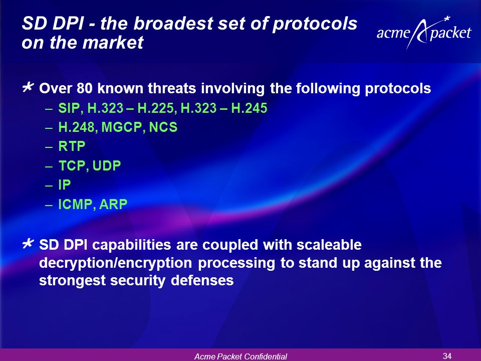 SD DPI - the broadest set of protocols on the market