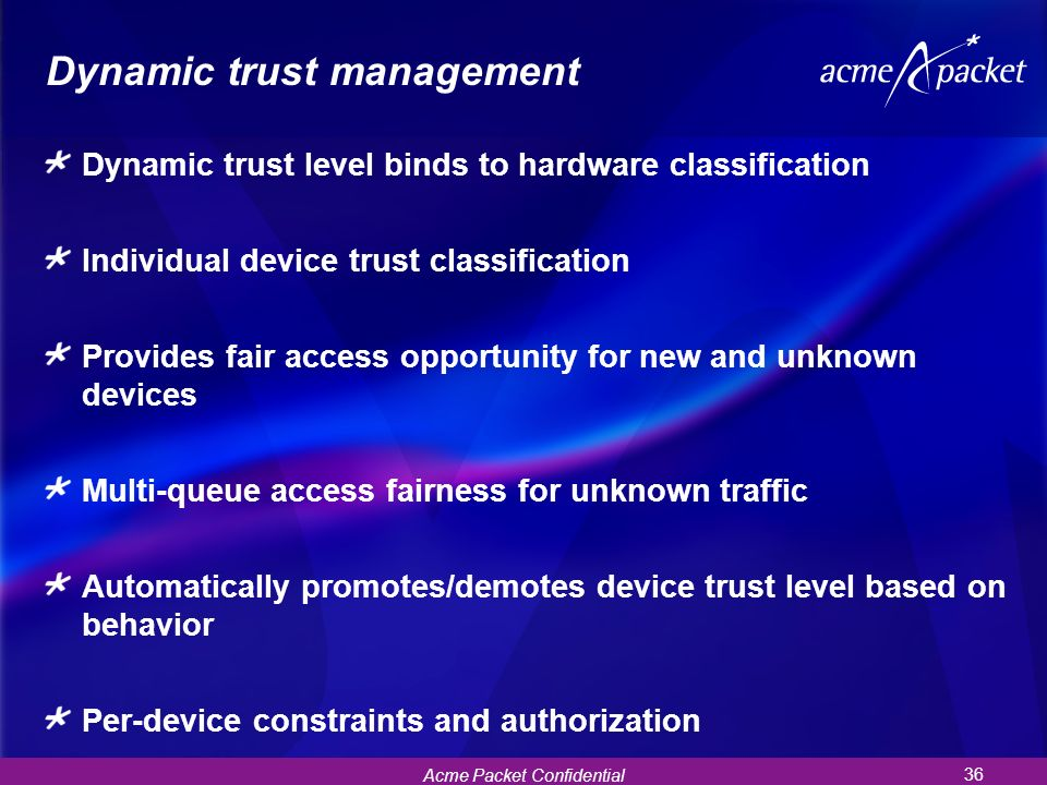 Dynamic trust management
