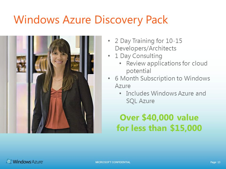 Windows Azure Discovery Pack