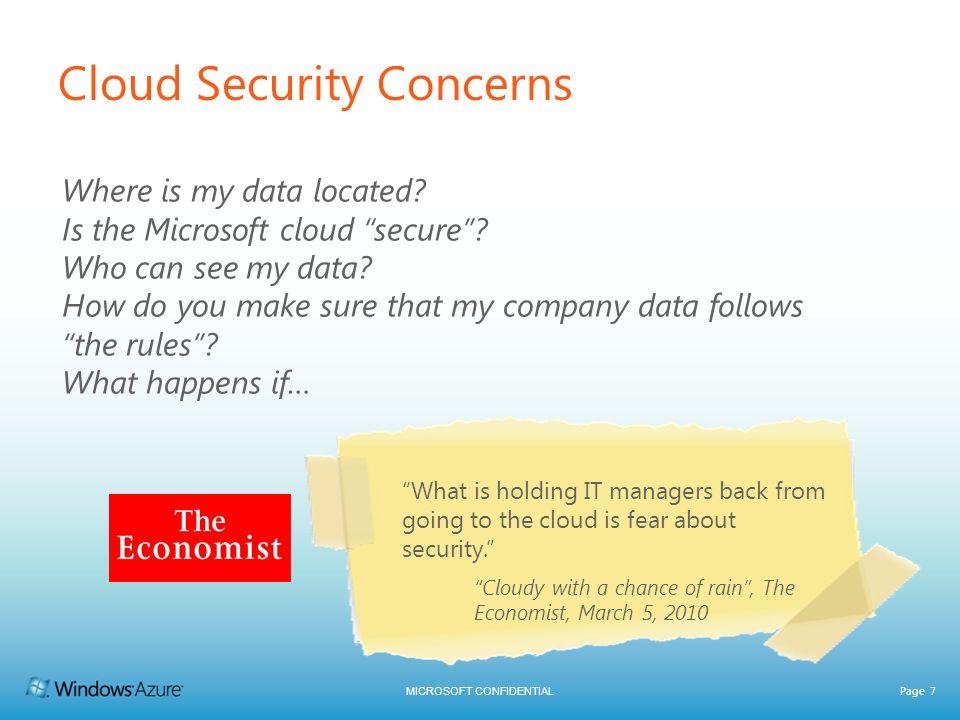 Cloud Security Concerns