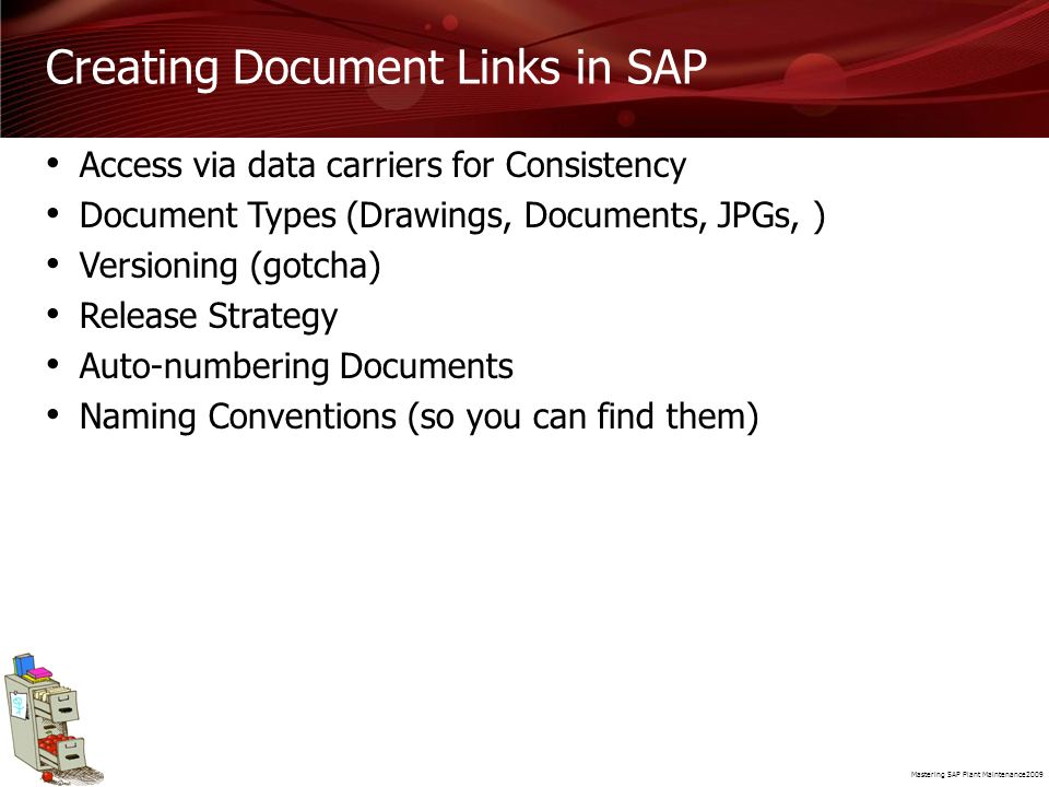Creating Document Links in SAP