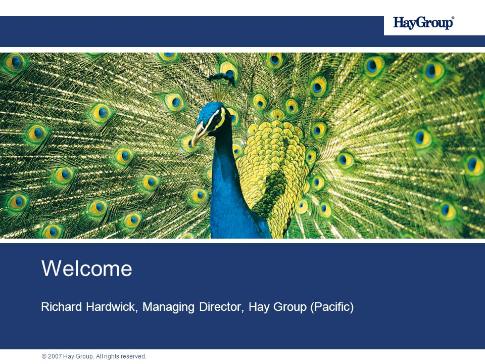 Richard Hardwick, Managing Director, Hay Group (Pacific)