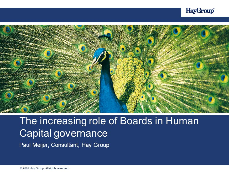 The increasing role of Boards in Human Capital governance