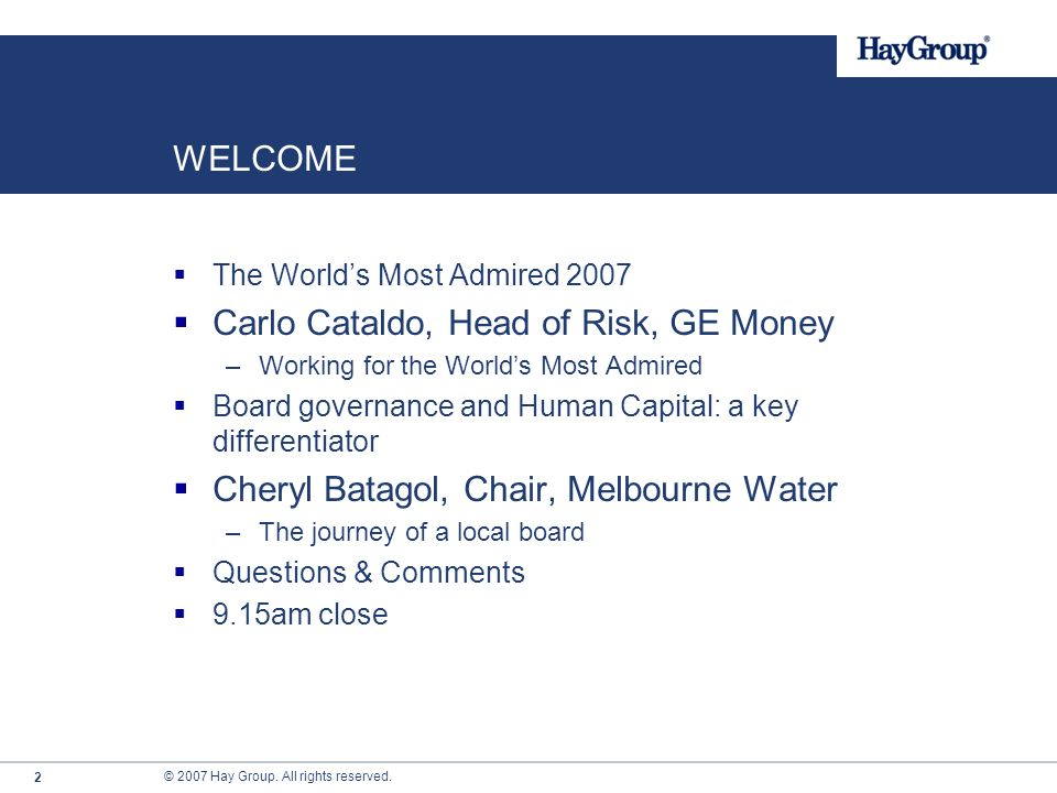 Carlo Cataldo, Head of Risk, GE Money