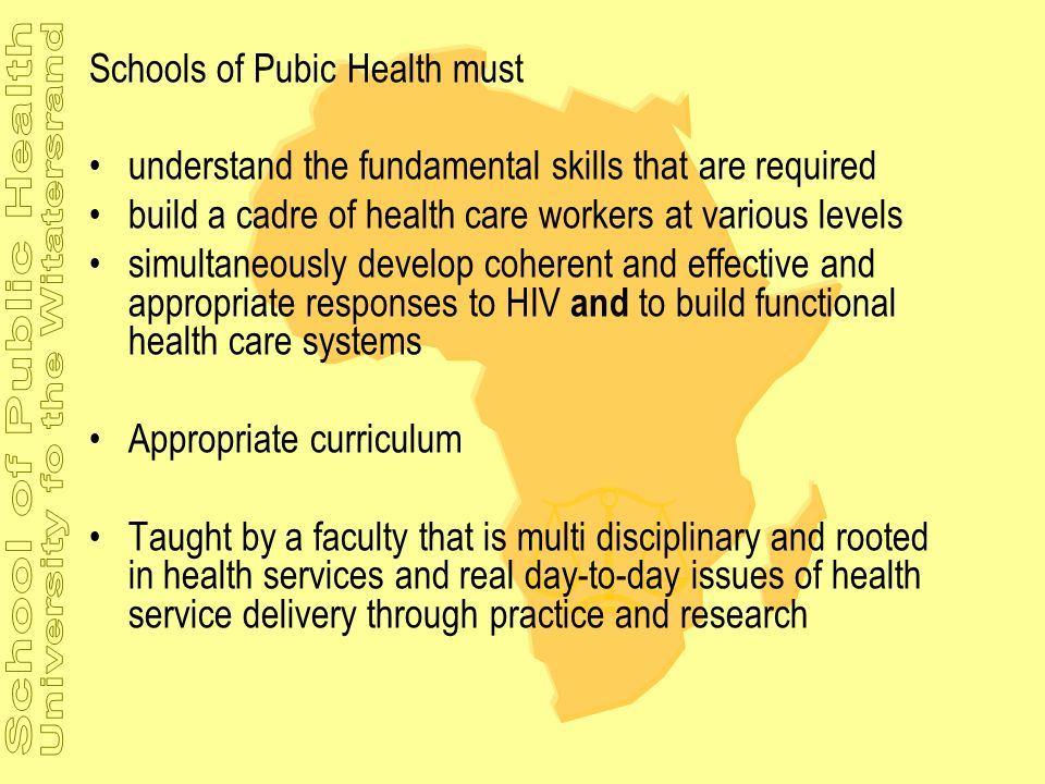 Schools of Pubic Health must