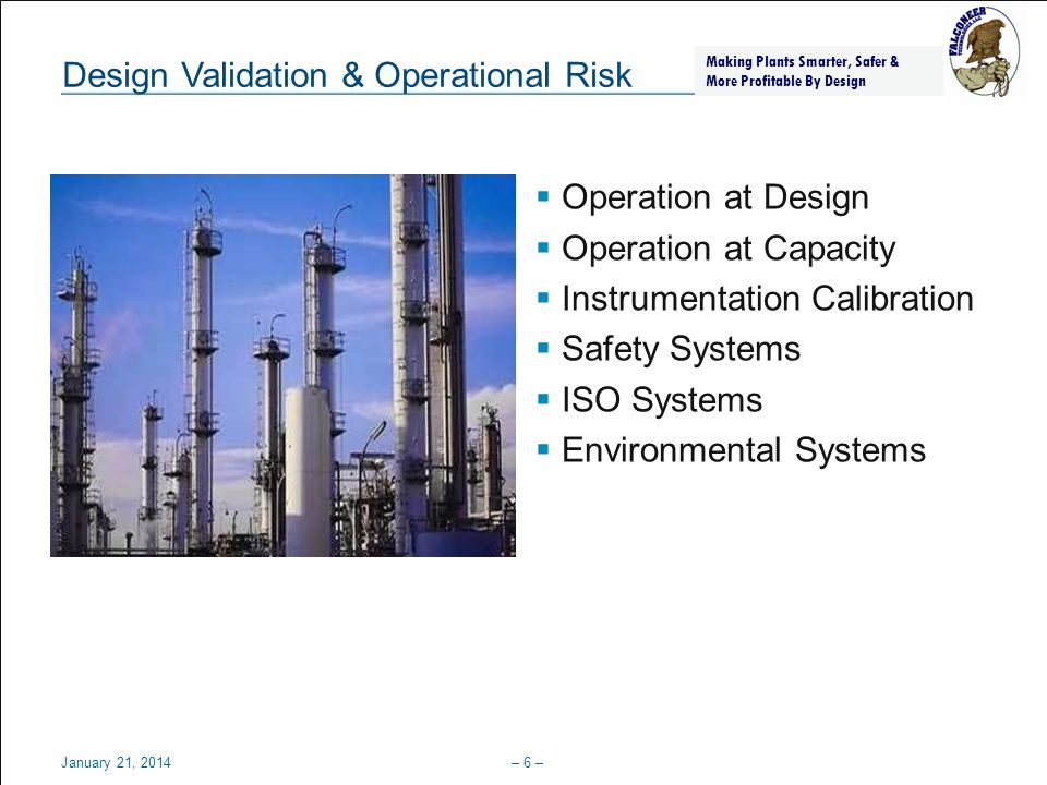 Design Validation & Operational Risk