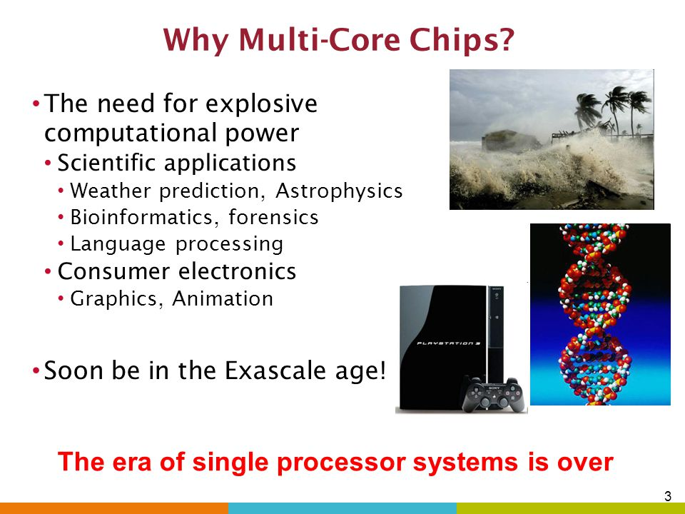 The era of single processor systems is over