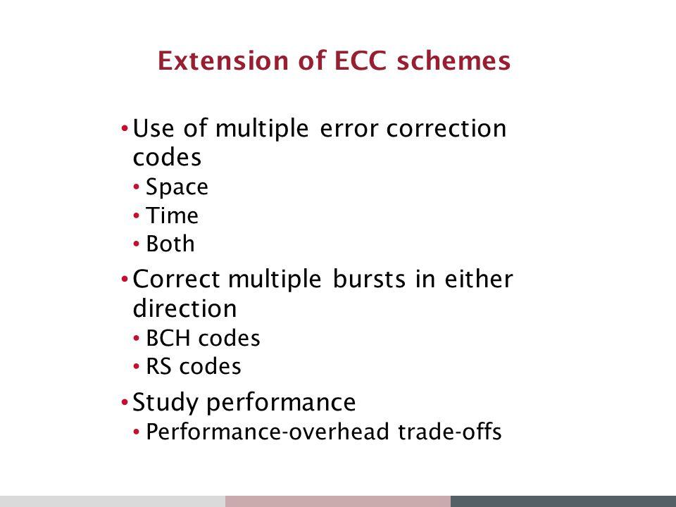 Extension of ECC schemes
