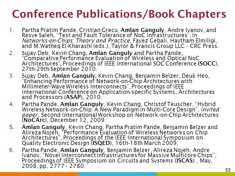 Conference Publications/Book Chapters