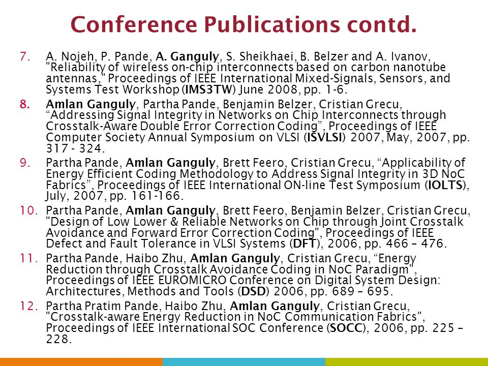 Conference Publications contd.