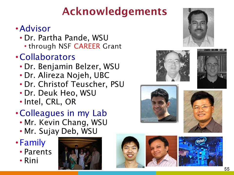 Acknowledgements Advisor Collaborators Colleagues in my Lab Family