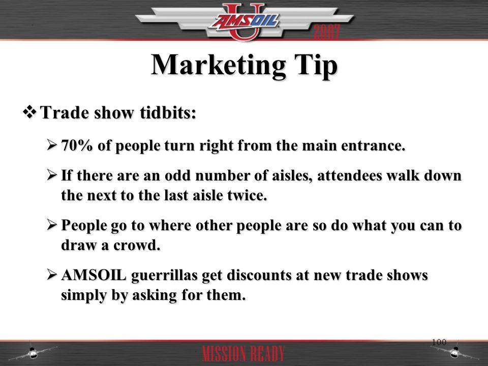 Marketing Tip Trade show tidbits: