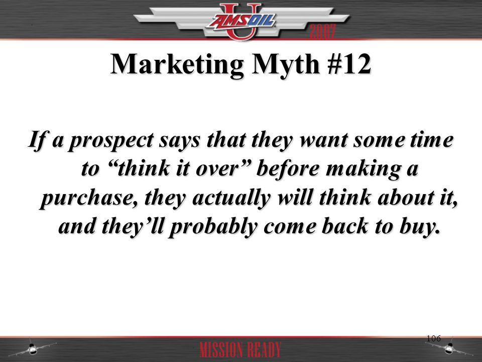 Marketing Myth #12