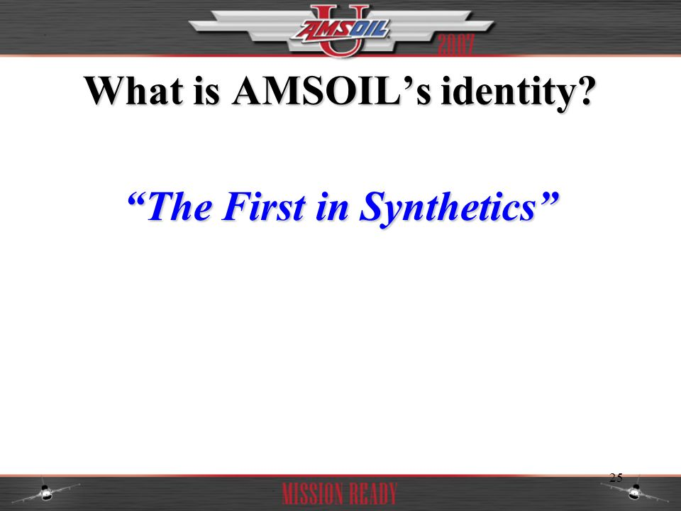 What is AMSOIL's identity