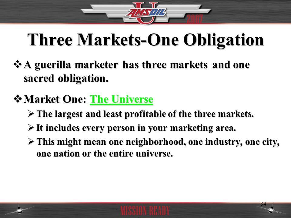 Three Markets-One Obligation