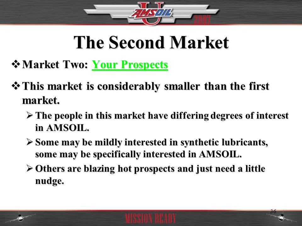 The Second Market Market Two: Your Prospects