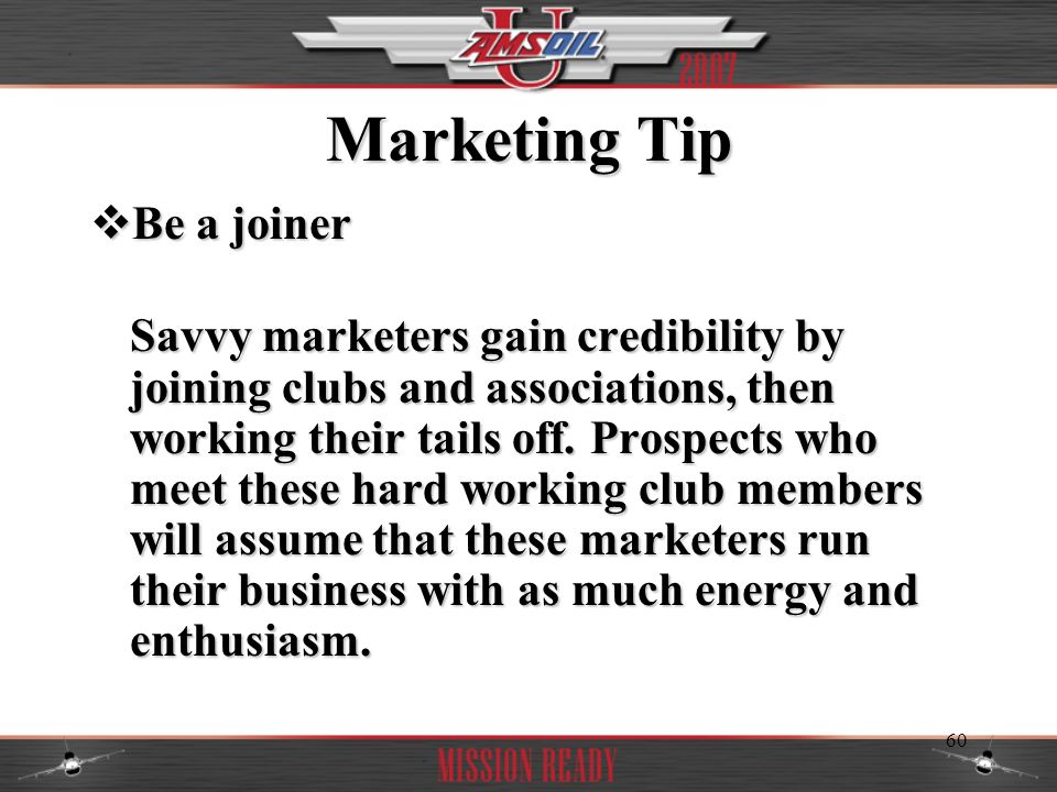 Marketing Tip Be a joiner