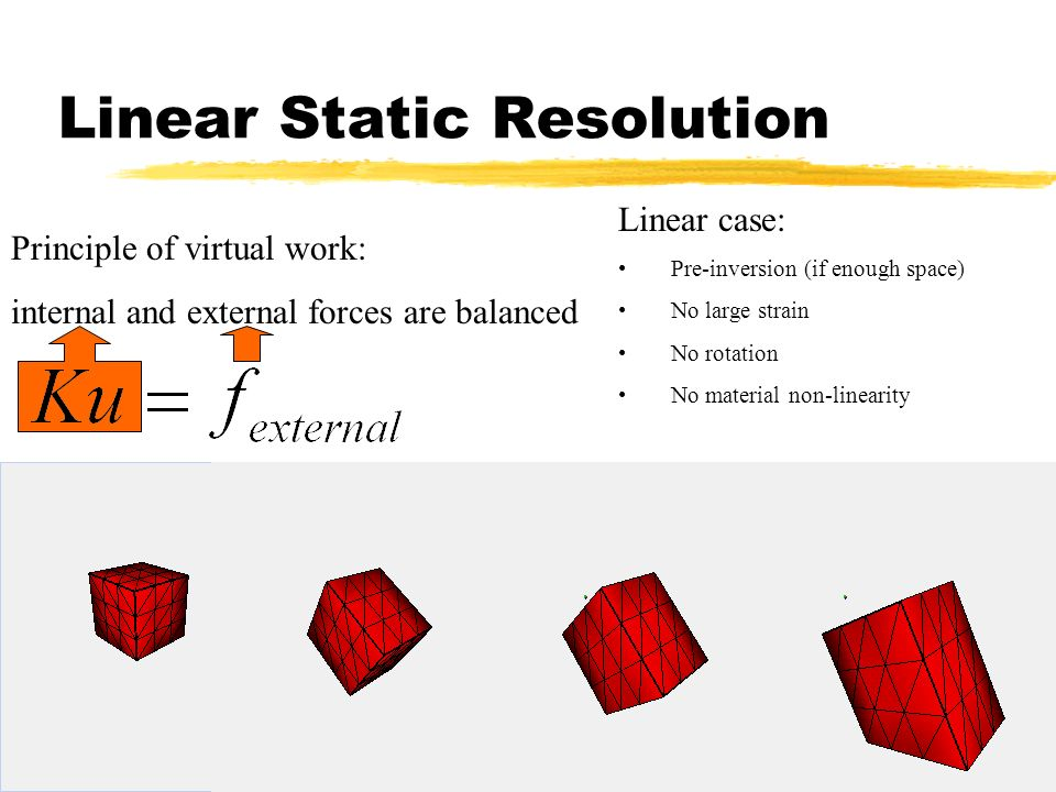 Linear Static Resolution