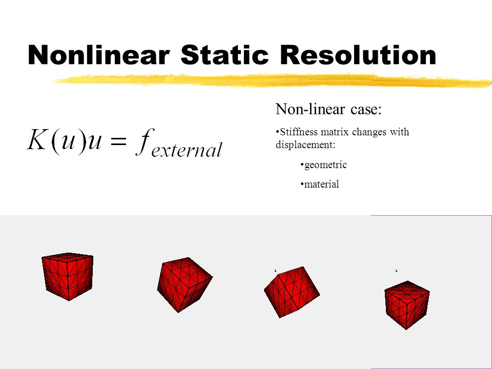 Nonlinear Static Resolution