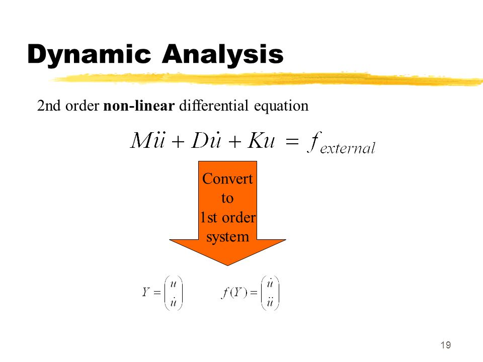 Dynamic Analysis 2nd order non-linear differential equation Convert to