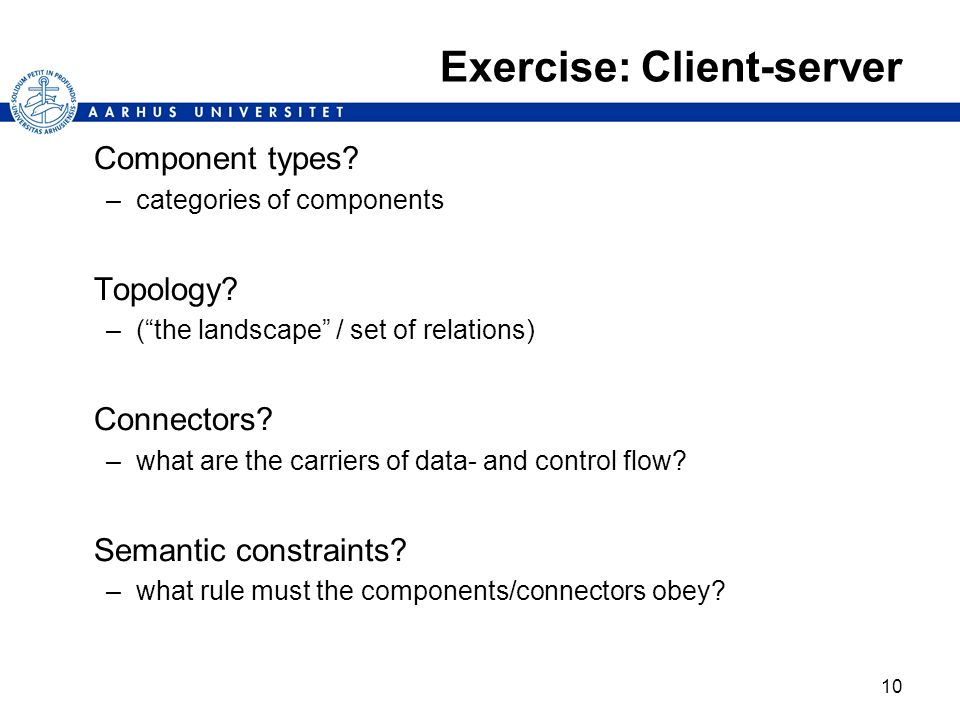 Exercise: Client-server