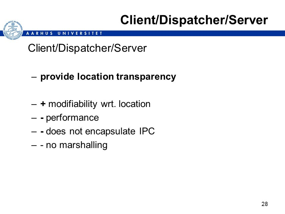 Client/Dispatcher/Server