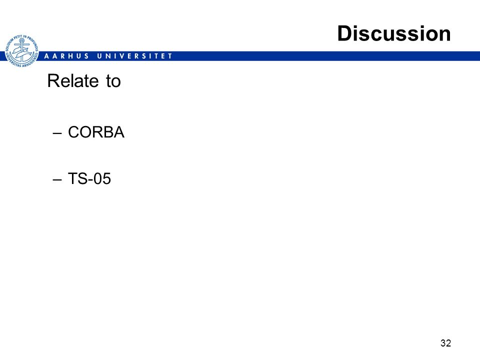 Discussion Relate to CORBA TS-05
