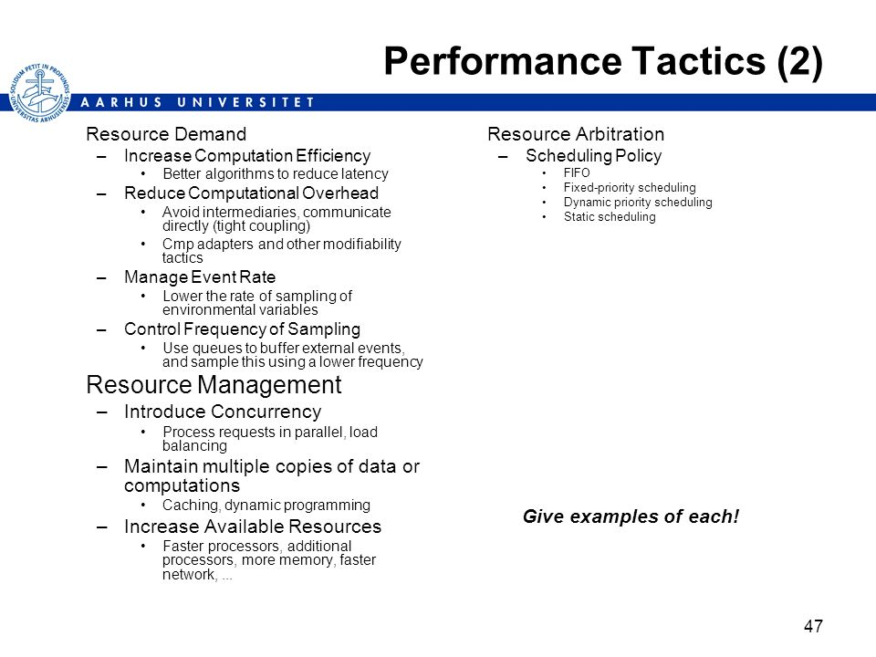 Performance Tactics (2)