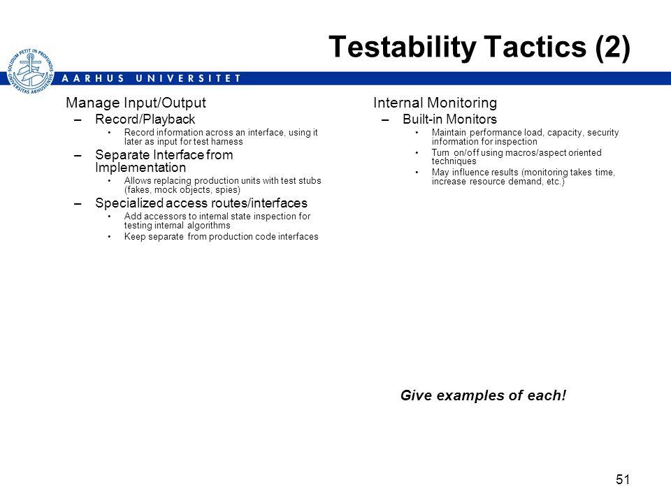Testability Tactics (2)