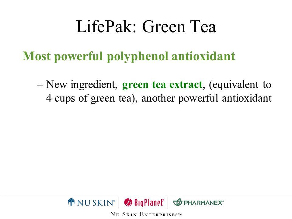LifePak: Green Tea Most powerful polyphenol antioxidant