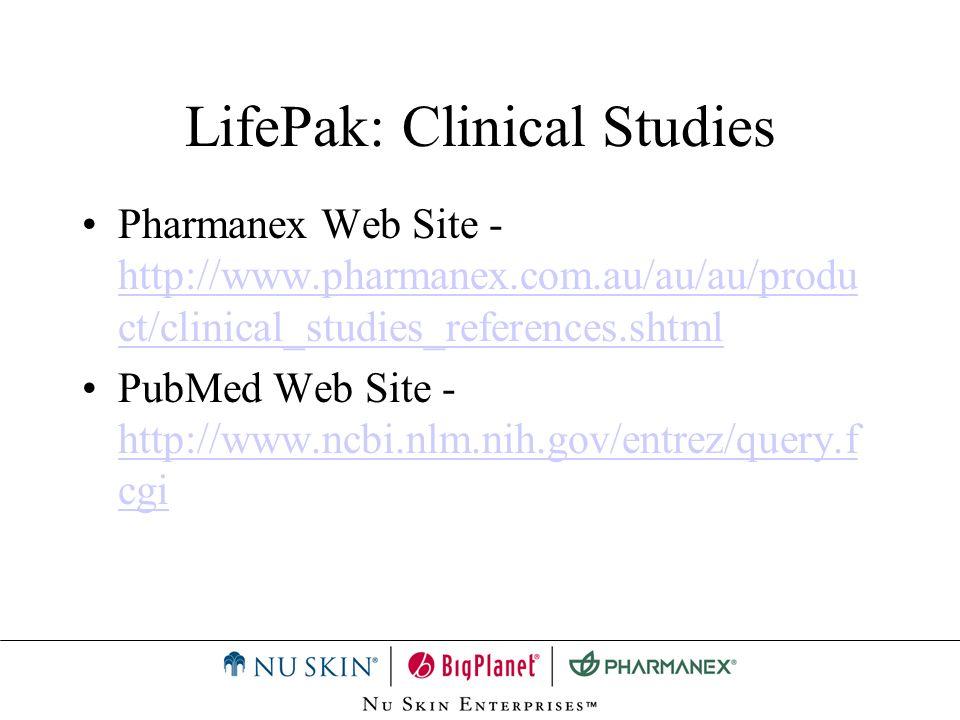 LifePak: Clinical Studies