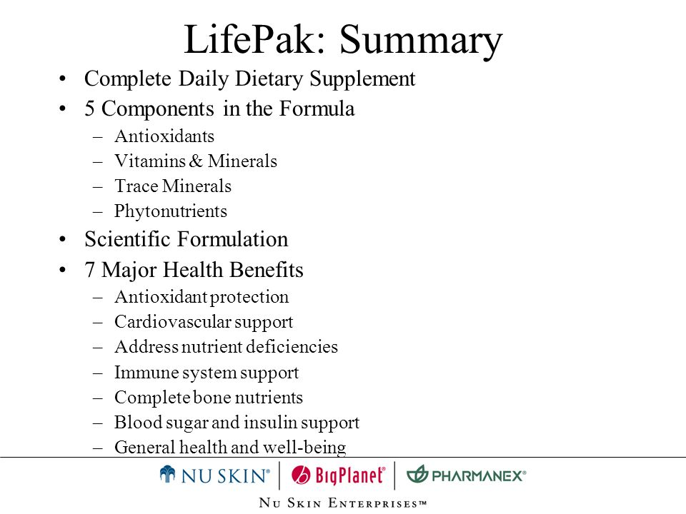 LifePak: Summary Complete Daily Dietary Supplement