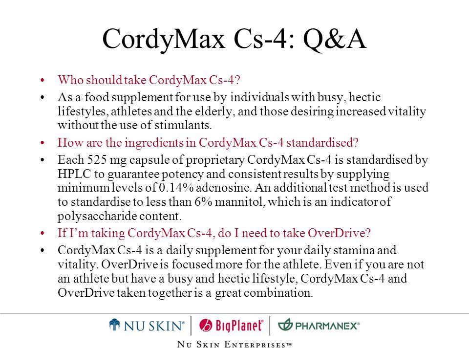 CordyMax Cs-4: Q&A Who should take CordyMax Cs-4