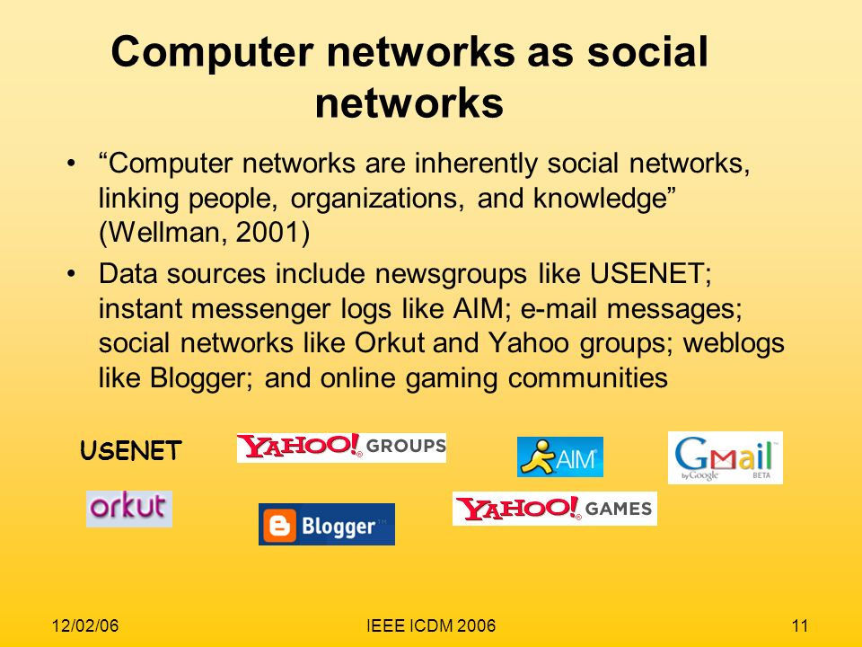 Computer networks as social networks